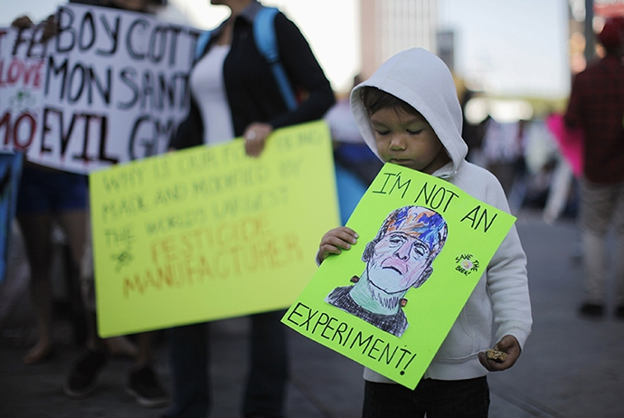 Kid Protests Against GMO Experiment @ ToxicNow.com