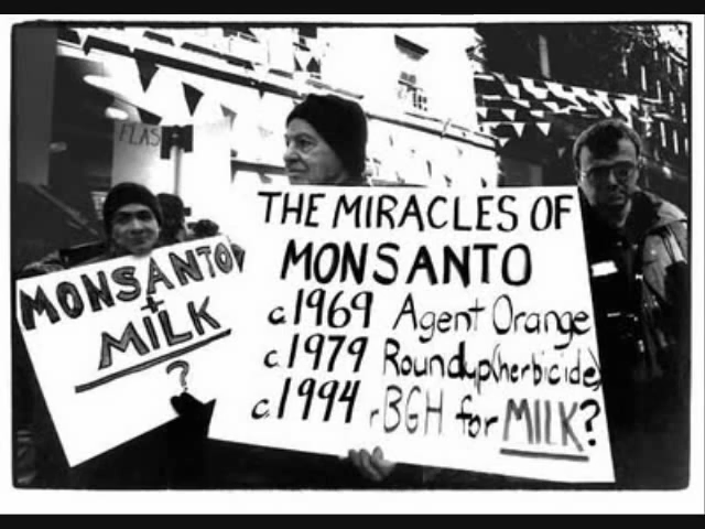 Protester Links Agent Orange To Monsanto- The Company Responsible For Making Our Food @ ToxicNow.com